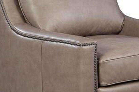 "Chairs And Recliner Dunbar ""Quick Ship"" Contemporary Leather Swivel Chair"