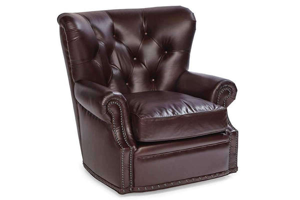 "Chairs And Recliner Dwight ""Quick Ship"" Tufted Chesterfield Swivel Accent Chair"