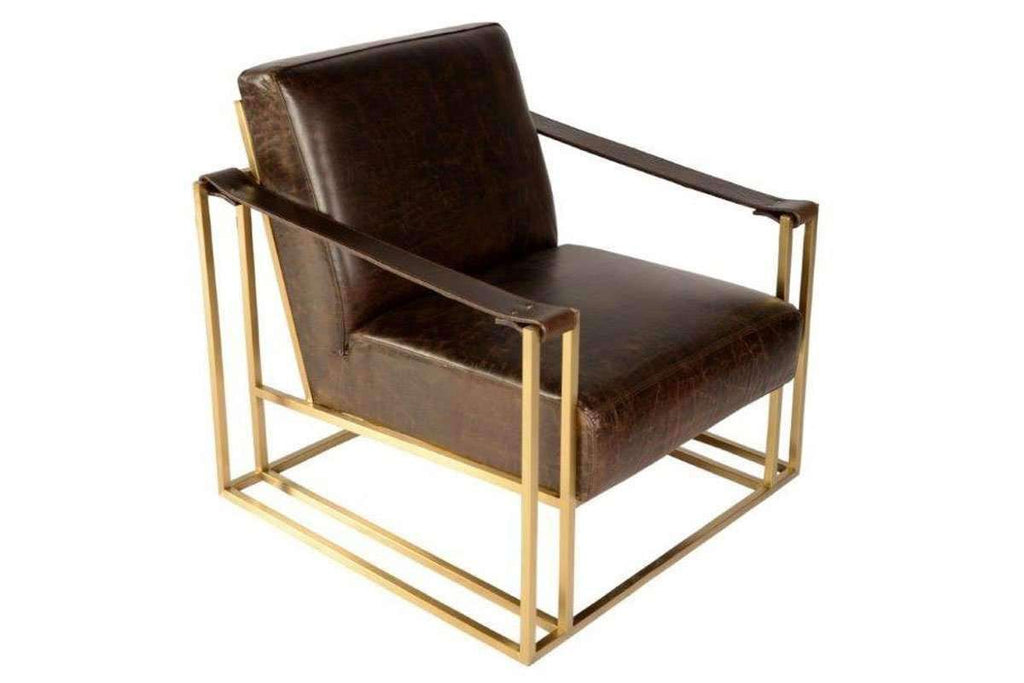 Chairs And Recliner Erik Contemporary Strap Sling Arm Accent Chair ...