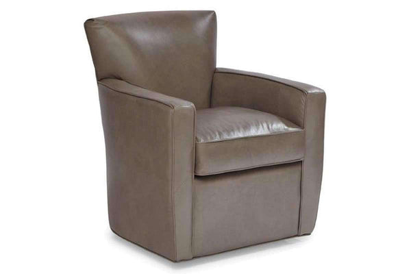 "Chairs And Recliner Frances ""Quick Ship"" Tight Back Leather Swivel Chair"