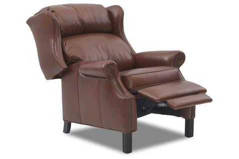 "Chairs And Recliner Gerald ""Quick Ship"" Bustle Wing Back Reclining Chair"