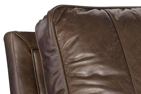 "Chairs And Recliner Gordon ""Quick Ship"" Classic Leather Recliner  With Tufting Details"
