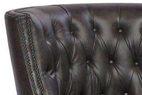 "Chairs And Recliner Hatcher ""Quick Ship"" Tufted Back Leather Accent Chair"