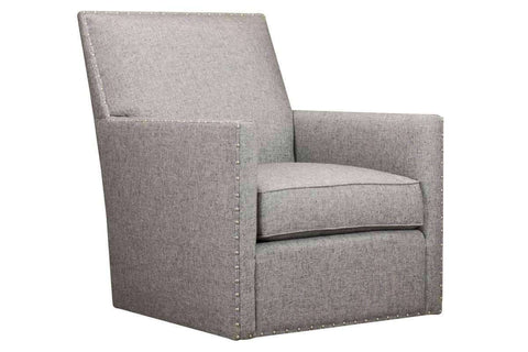 "Chairs And Recliner Hope ""Quick Ship"" Swivel Fabric Chair With Nail Trim"