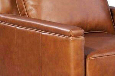 "Chairs And Recliner Jefferson ""Quick Ship"" Track Arm Leather Swivel Chair"