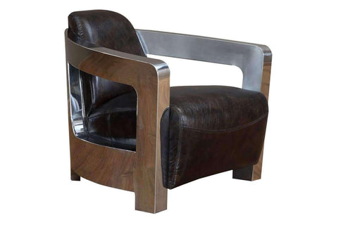 Chairs And Recliner Leonard Modern Leather And Metal Atlantic Coupe Chair