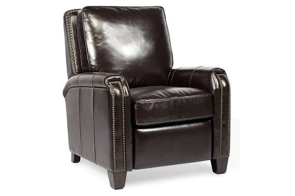 "Chairs And Recliner Matthew ""Quick Ship"" Contemporary Leather Recliner Club Chair"