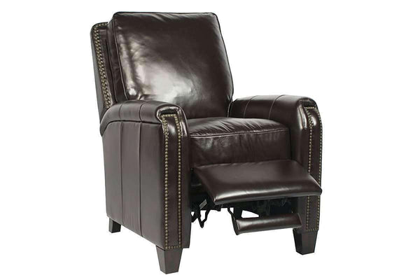Matthew Quick Ship Contemporary Leather Recliner Club Chair