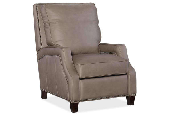 norton quick ship small scale leather recliner. Black Bedroom Furniture Sets. Home Design Ideas