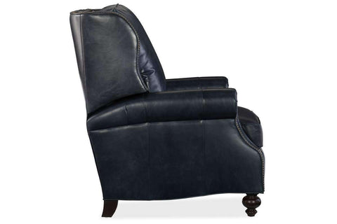"Chairs And Recliner Paulson ""Quick Ship"" Traditional Wing Back Leather Recliner"