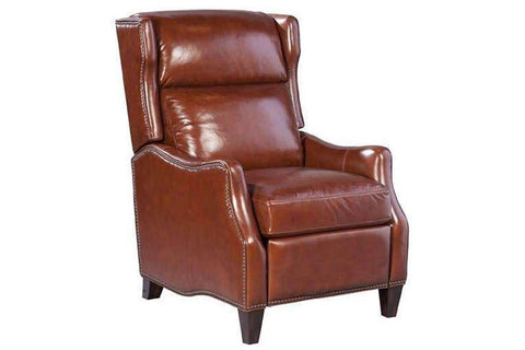 "Chairs And Recliner Richard ""Quick Ship"" Narrow Design Bustle Back Leather Recliner"