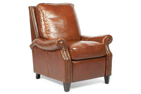 "Chairs And Recliner Winchester ""Quick Ship"" Traditional Leather Club Chair Recliner"