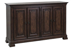 Chauncey Traditional Door Storage Dining Buffet With Antique Brownstone Finish