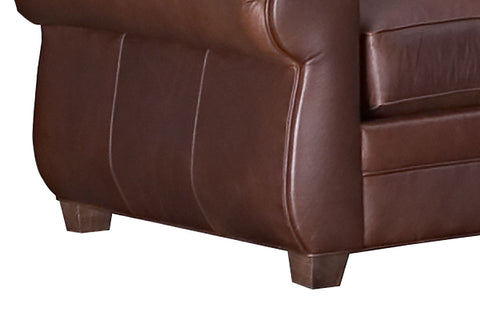 "Chelsea ""Designer Style"" Moustache Back Leather Club Chair"