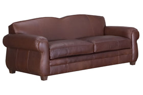 "Chelsea ""Designer Style"" European Club Style Leather Loveseat"