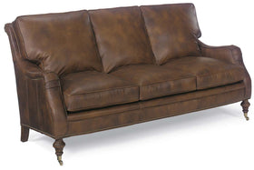 Chesapeake 78.5 Inch Leather Apartment Sofa