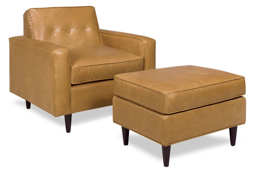 Picture of: Chet Designer Style Mid Century Modern Leather Chair