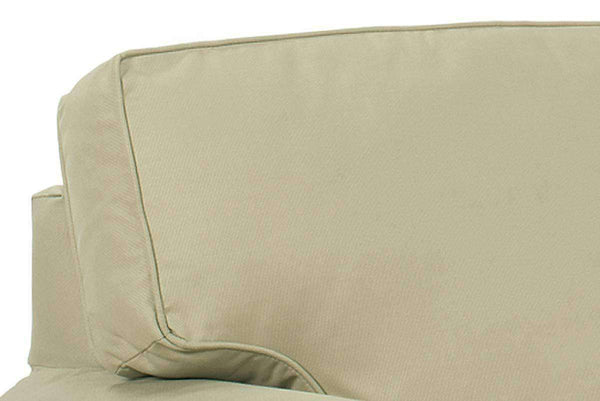 Chloe Slipcovered Two Arm Chaise Lounge