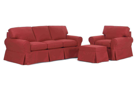 Chloe Slipcover Queen Sleeper Sofa Set - Club Furniture