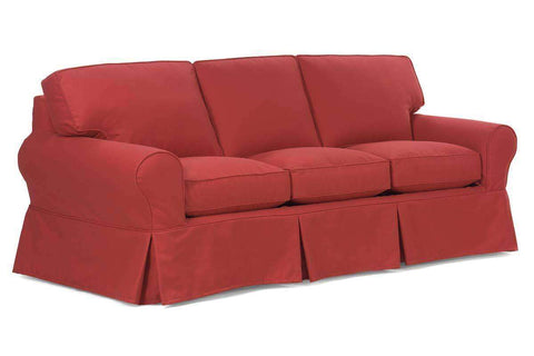 Slipcovered Furniture Chloe Slipcovered 3-Seat Sofa With Skirt