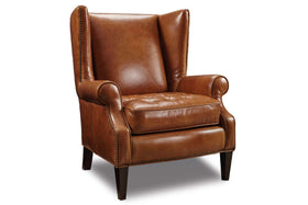 "Clarkson ""Quick Ship"" Tufted Seat Inset Arm Tight Wing Back Accent Chair"