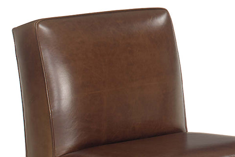 "Cole ""Designer Style"" Leather Armless Club Chair"