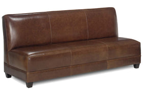 "Cole 77.5 Inch ""Designer Style"" Apartment Size Leather Armless Settee Sofa"