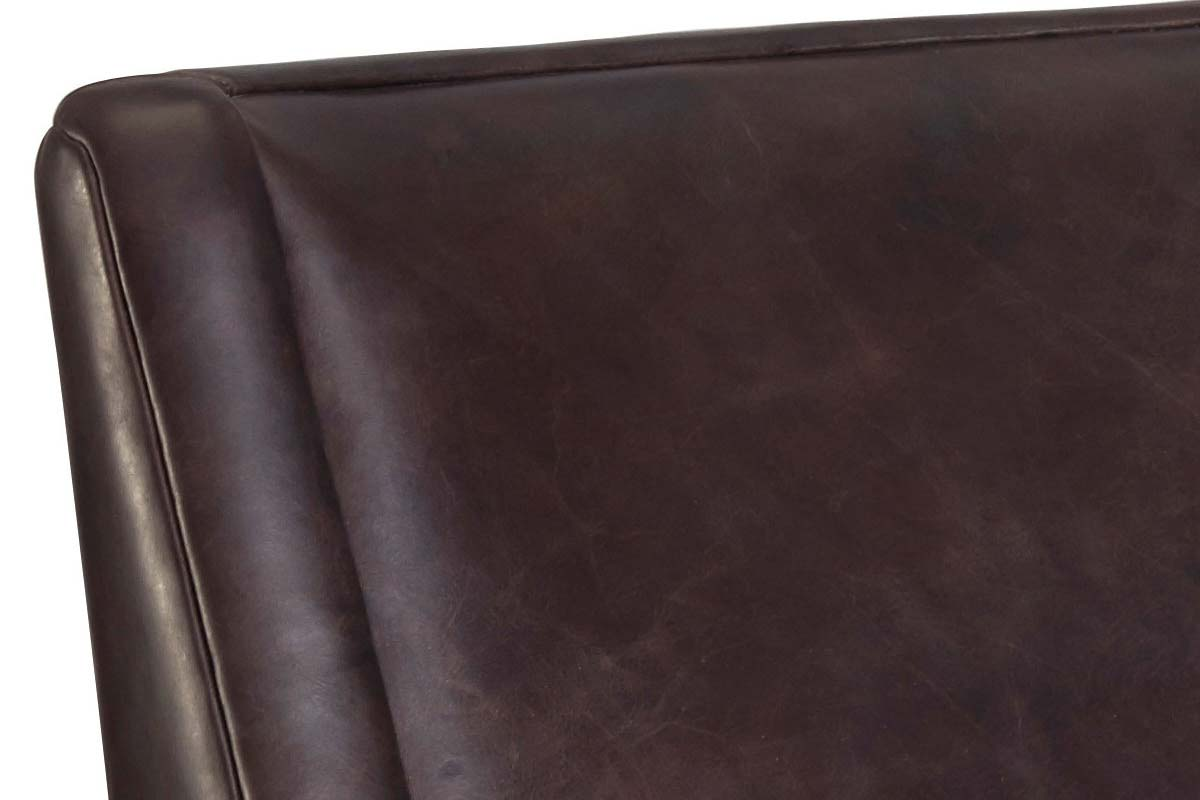 "Connell ""Quick Ship"" Transitional Leather Swivel Accent Chair"