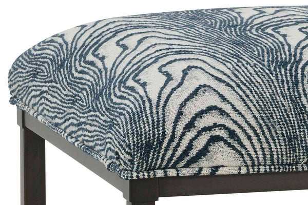 "Contessa ""Designer Style"" Fabric Coffee Table With Oil Rubbed Bronze Metal Base"