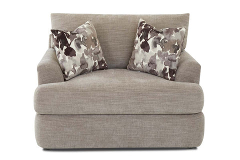 "Cora ""Custom Value"" Wing Arm T-Cushion Fabric Living Room Chair"