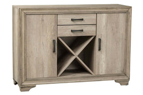Cyrus Transitional Door Storage Buffet Server In Sandstone Finish