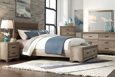 "Cyrus Queen Or King Upholstered Storage Panel Bed ""Build Your Own Bedroom"" Collection"
