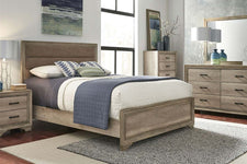 "Cyrus Queen Or King Upholstered Panel Bed ""Build Your Own Bedroom"" Collection"