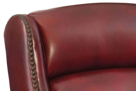 "Daley Red ""Quick Ship"" Leather Power Motion Sofa With Power Headrest - Club Furniture"