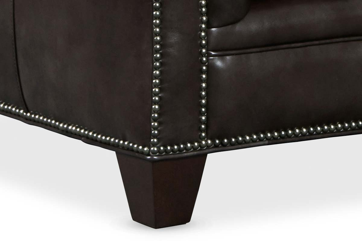 "Damien Smooth Move Iron 94 Inch ""Quick Ship"" Tufted Chesterfield Style Sofa"