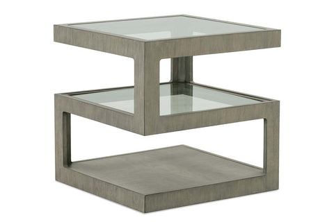 Delta Modern Metal And Wood Occasional Table Collection