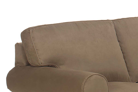 Dillon 4 Piece Fabric Upholstered Sectional Sofa With Chaise Lounge (As Configured)