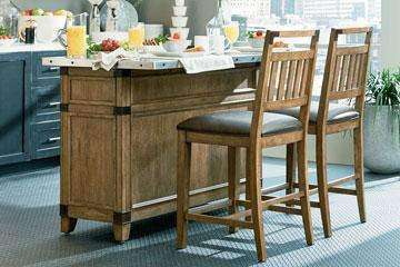 Dining Furniture Chandler 3-Piece Kitchen Island With 2 Pub Chairs