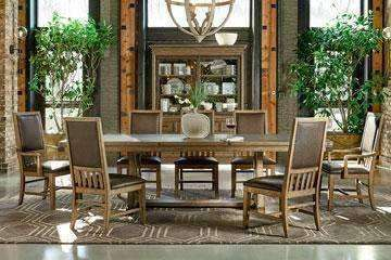 Dining Furniture Chandler 9-Piece Trestle Table Dining Set