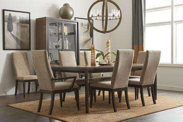 Dining Furniture Corbett 7-Piece Dining Set With Upholstered Chairs