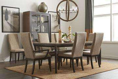 Corbett 7-Piece Dining Set With Upholstered Chairs