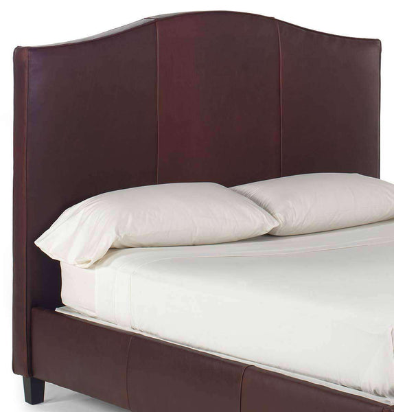 "Upholstered Bed Donovan ""Designer Style"" Arched Leather Camelback Headboard"