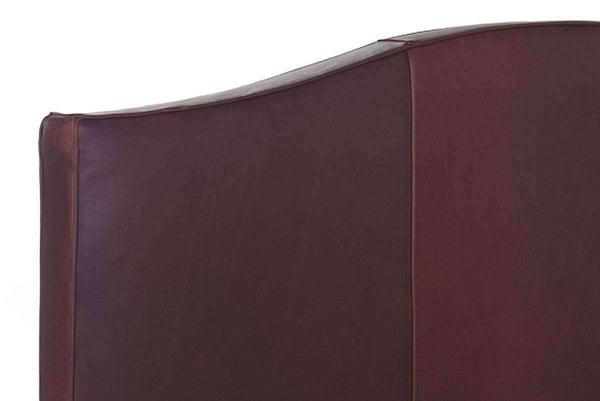 "Donovan ""Designer Style"" Arched Leather Camelback Headboard"