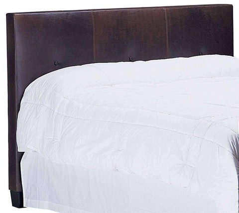 "Upholstered Bed Drake ""Designer Style"" Leather Panel Headboard With Buttons"