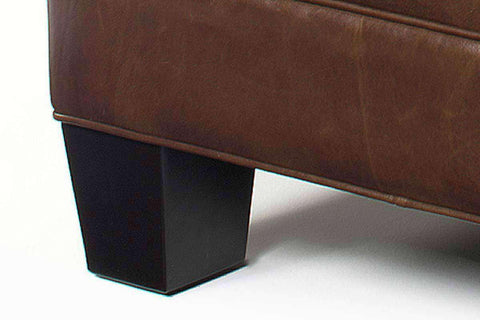 Ottomans & Benches Drew Large Square Leather Ottoman Coffee Table