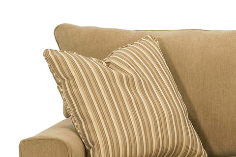 Eden 80 Inch Queen Size Small Spaces Fabric Pillow Back Sofa Sleeper