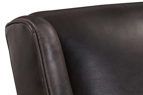Elio Quick Ship Modern Leather Tight Back Accent Chair With Chrome Legs