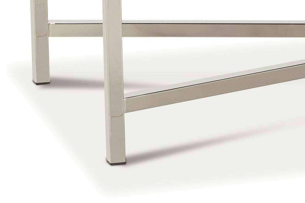 Pleasant Ellery 61 Inch Long Fabric Top Bench Ottoman With Modern Chrome Metal Base Dailytribune Chair Design For Home Dailytribuneorg