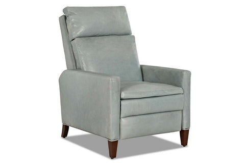 Elrod Tall Leather Pillow Back Recliner With Track Arms