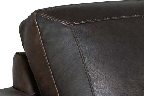 "Enrico ""Quick Ship"" Transitional Leather Accent Chair With Black Metal Base"